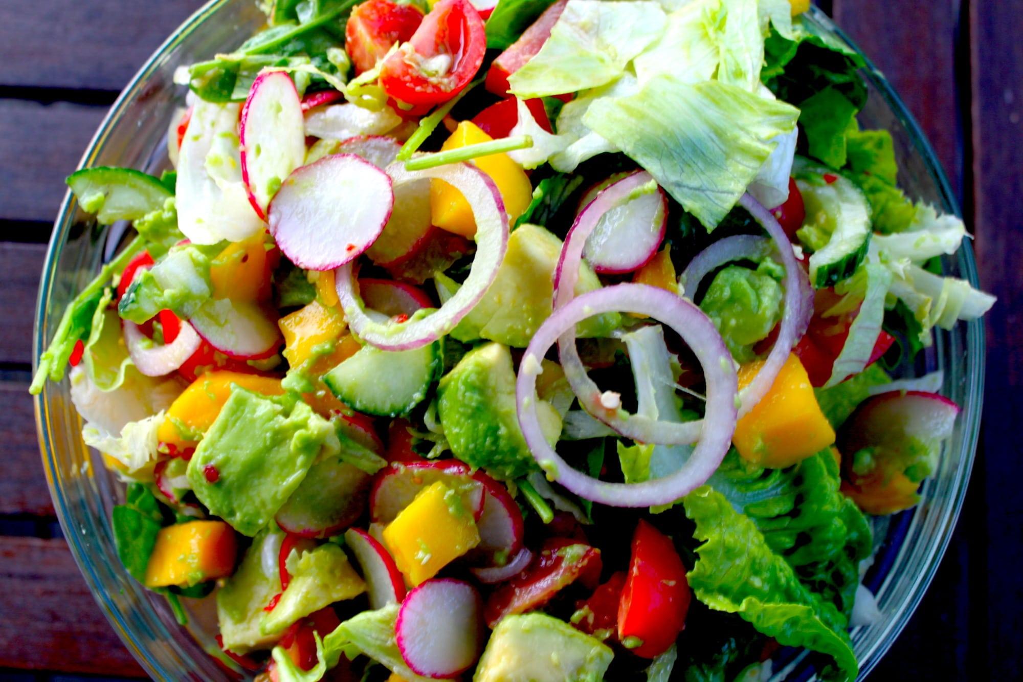 Eksotisk aspargessalat med omega-3